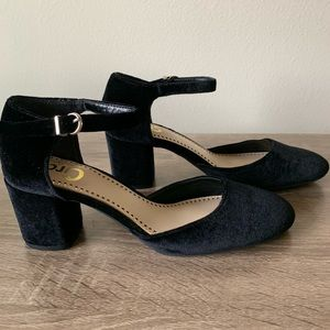 Circus Sam Edelman Velvet Mary Jane Block Heel 8